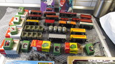 Fleischmann/Faller/and others H0 - collection: switches, signals, cars, building kit, carriages and couplings