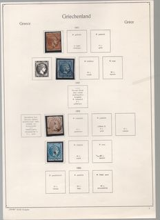 Greece - Collection from 1861 to 1945 on the pages of a Kal-be album
