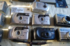 Large collection of 27 Kodak cameras and 3x Pentax
