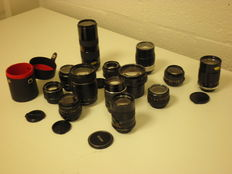 Lenses, lot of 13 pieces