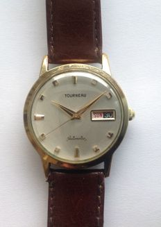 Tourneau Automatic men´s wristwatch with day and date, around 1965
