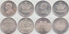 Malta – 1 pound 1972 en 1973, 2 pound 1973 en 4 pound 1976 – silver (4 different)