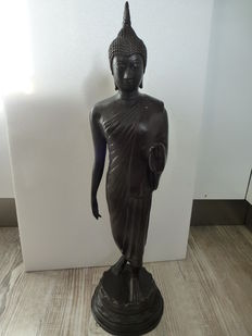 Large bronze Buddha statue - 6.6 kg - Thailand - second half of the 20th century