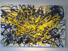 Rick Triest - The modern movement compositions - black and yellow for blue and white
