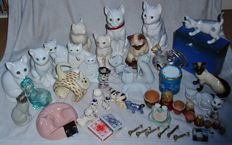 Cats-cat-big cats figurines and novelties-collection-c.a. 45 pieces-different countries