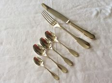 Cutlery parts Christofle Cluny, 6 pieces