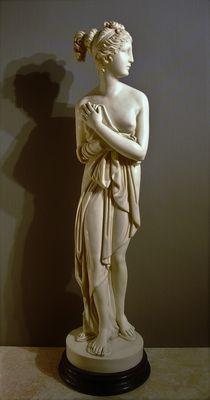 Statue in artificial marble goddess Aphrodite