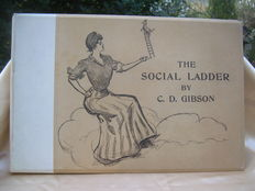 'The Social Ladder; drawings by Charles Dana Gibson' - rare in original cardboard box United States - 1902