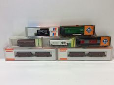 Arnold/Roco/Trix N - 02366/02333/0334/13884/13837/25240 - 9 freight carriages of the NS (lot 582)