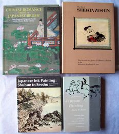 Lot with 4 books about Japanese paintings - 1952/2009