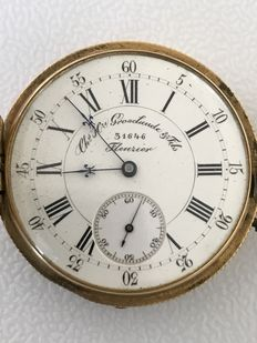 Ch. H. Grosclaude & Fils gold pocket watch, second half of the 19th century