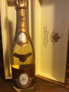 2004 Cristal Louis Roederer champagne with case – 97/100 R.Parker – 1 bottle