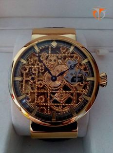 Skeleton 1932 OMEGA Pocket Watch Movement Marriage Wristwatch