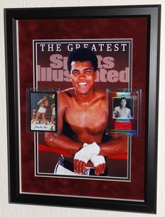 Muhammad Ali original autographed Limited Edition 1992 Classic MUHAMMAD ALI World Class Athletes card + Limited Edition piece of clothing worn by the 3-time world champion