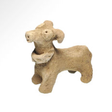 Near Eastern Terracotta Votive Ram, 8.6 cm L