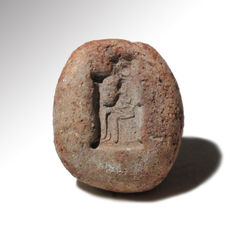 Egyptian Terracotta Mould with Isis, 2.9 cm L