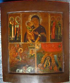 Antique Russian icon late 18th - early 19th century