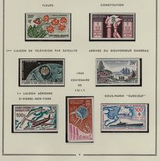 Ex-colonies of France, Saint Pierre and Miquelon 1959/1991 – 32 complete years, DOM period – Airmail, Taxes and Souvenir Sheet