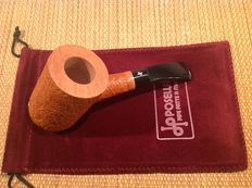 Unsmoked Posella sandblasted pipe, first quality Calabria briar, hand made in Italy!!