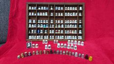 Collection of 150 thimbles + small case