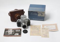 System EXA Rheinmetall Sömmerda + Tessar from June 1956 with all original papers and packaging