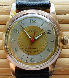 ANKER DURO-BLOC 17 Rubies -- men's wristwatch from the 1960s