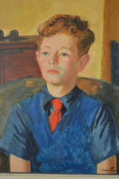 James Proudfoot RA (1908-1971) - Portrait of Michael Proudfoot aged 9.