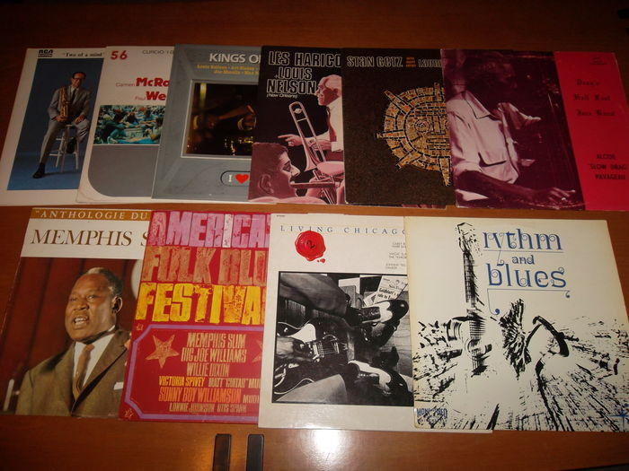 """Blues & Jazz"" lot of 10 albums!"