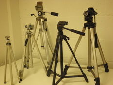 Tripods, lot of 5 pieces