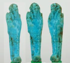 Egyptian nice blue faience Shabti - ca. 5,0 cm a. 1,2 inches