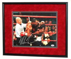 'Iron' Mike Tyson original signed Photo / Poster - Deluxe Framed + COA from PSA