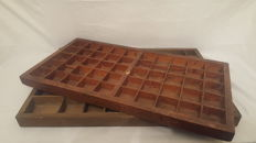 Beautiful vintage wooden typecase,Netherlands,first half 20th century