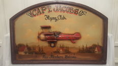 Large Decorative 3D wooden board Capt.Jacobs Flying Club