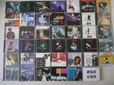 """Ultimate Jazz lot with 40 cd's, great names: Earl """"Fatha""""Hines,Charlie Mingus,Donald Byrd, Paul Desmond,Thelonious Monk,Billie Holiday,Lester Young, Johnny Hodges,Ben Webster, Hugh Masekela, Ella Fitzgerald. Charlie Parker, Dave Brubeck and many others"""