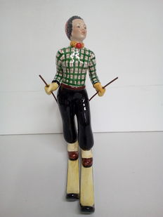Tosin - Art Deco skier figure, 20th century