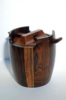 Jean Gillon (Lasi/Romania, 1919 - Sao Paulo, 2007) for WoodArt - vintage designer tobacco box made of jacaranda wood