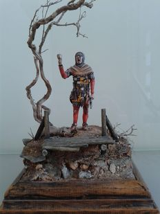 Diorama of a Medieval Knight