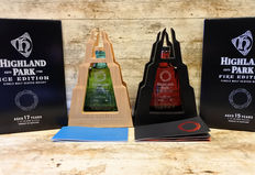 2 bottles - Highland Park Ice & Fire Edition - in original boxes and Frames - Limited Editions