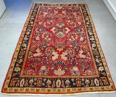 Beautiful antique American Sarouk Persian carpet – 156 x 100 – very special rug – with certificate
