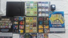 1090 Pokémon cards,38 Pocket Monsters, 43 stickers ,1 tin box, 1 black Deck Box,16 tv cards,2 posters.year 1996-2016.