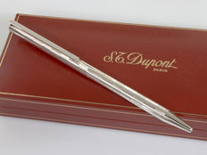 "DUPONT Classique L2 Palladium ""Guillochè"" Mechanical Pencil / Ballpoint Pen"