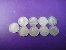 Spain - Alfonso XII - 50 cent coins (9) - 1892 - Madrid