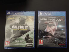 Lot of 2 PS4 Games - MGS V: Ground Zeroes & Call of Duty Infinite Warfare with Modern Warfare campaign and multiplayer maps