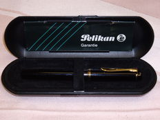 Pelikan M150 piston filler fountain pen black - VERY good condition
