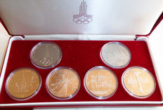 USSR/Russia - Set of 6 Coins XXII Summer Olympic Games 1980 in Moscow
