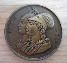 """France - Medal 1809 """"Reunion of Rome To The Empire"""" Napoleon"""