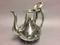 Victorian tea pot with floral engraving, England, ca. 1900