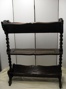 Book rack, oak wood