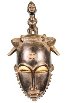 Finely Carved African Mask - YOHURE - Ivory Coast