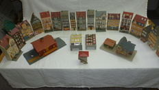Scenery H0 - 20 Background houses, station, signal house and freight shed